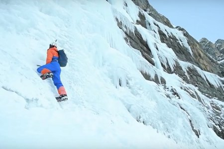You Will Never Climb a 1,000-Foot Frozen Waterfall as Fast as This Brave Soul