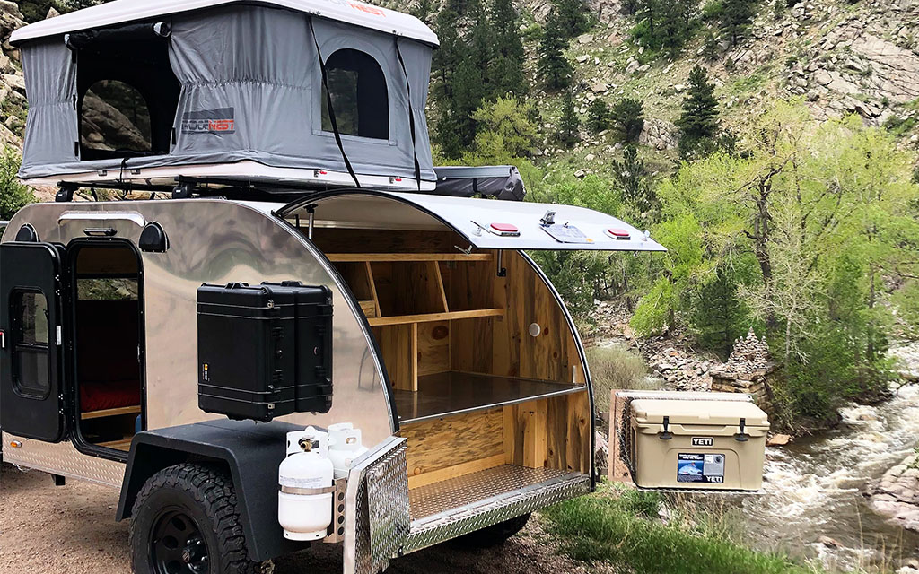 Colorado Summer Teardrop Trailer Bunk Bed - InsideHook