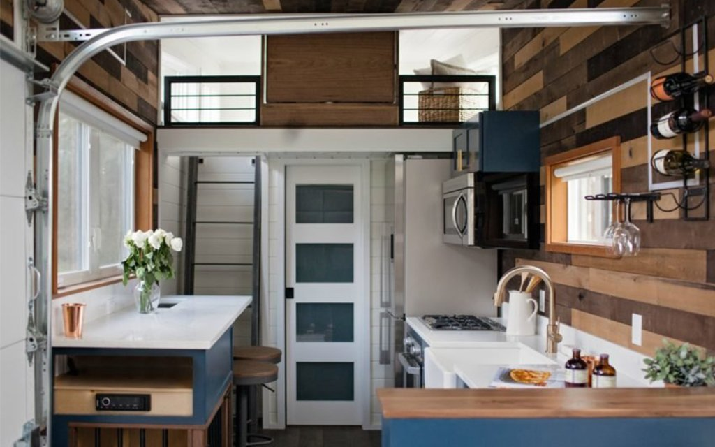 Sensational Tiny Heirloom Tiny Home With Garage Door Wall Insidehook Download Free Architecture Designs Boapuretrmadebymaigaardcom