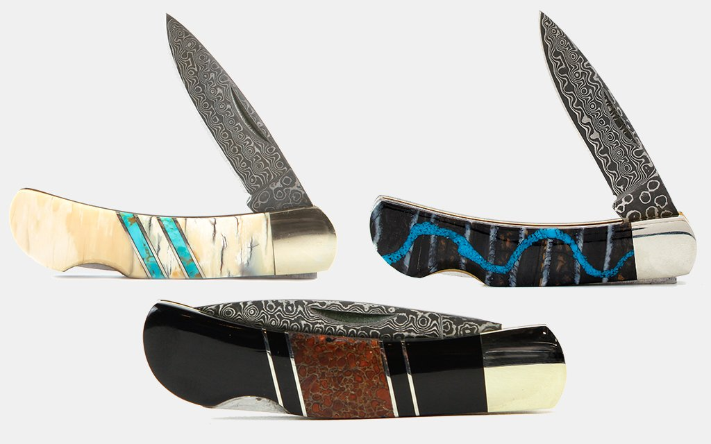 Santa Fe Stoneworks Dinosaur & Mammoth Bone Pocket Knives