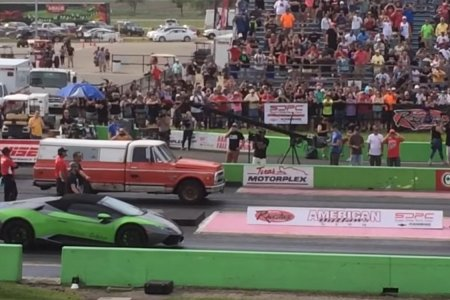So an Old Truck Challenges a Lamborghini to a Race…
