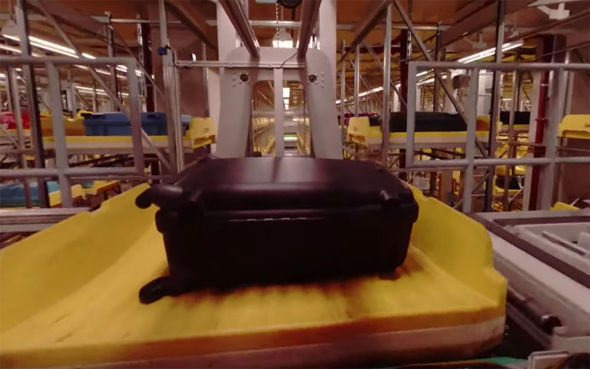POV Video Shows One Bag's Journey From Check-In to Luggage Bay
