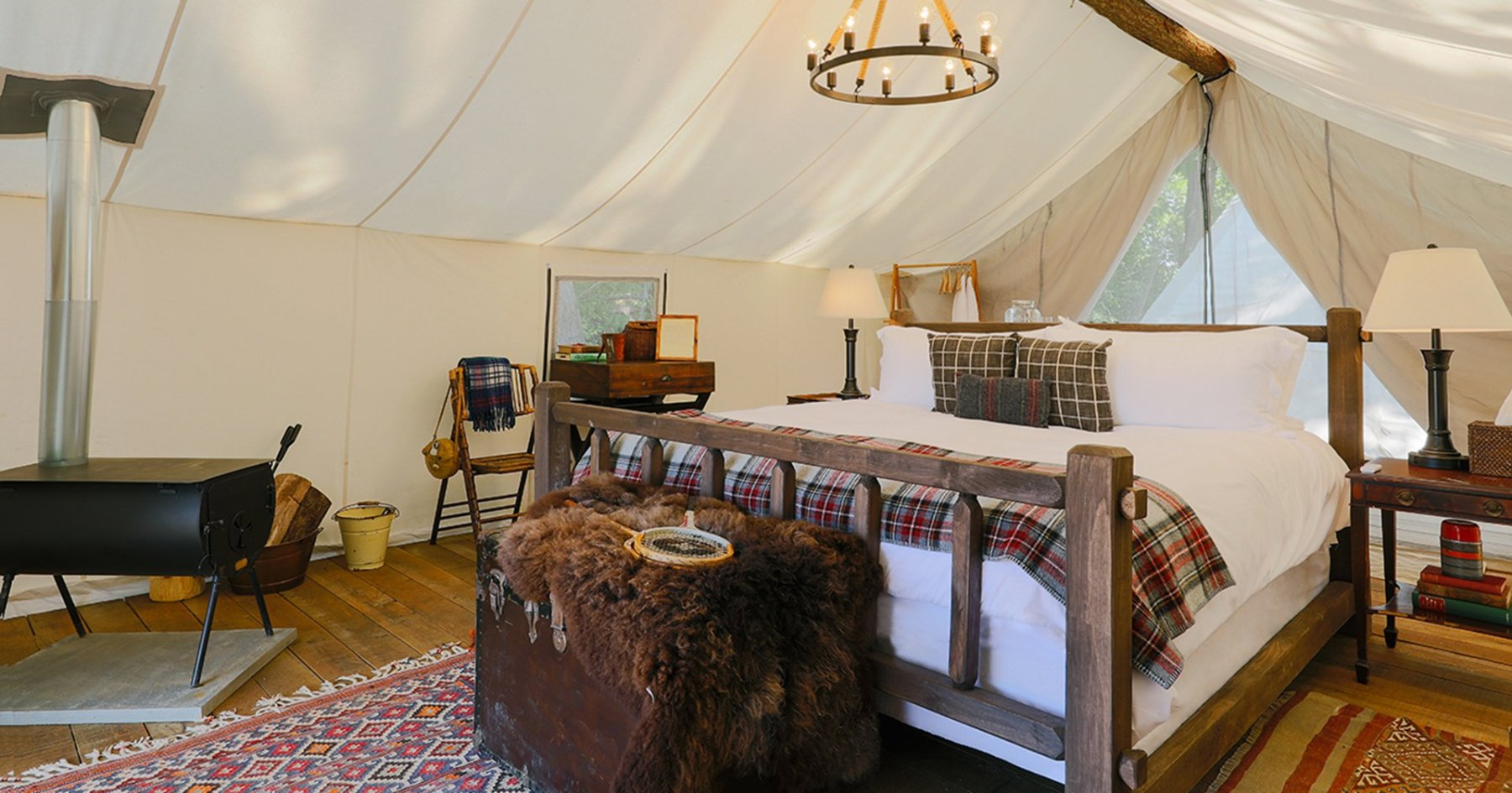 Safari Tents on Governors Island, for Rent