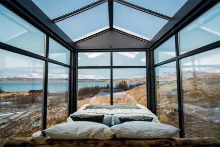 Name a More Romantic Getaway Than a Glass Cabin in Iceland