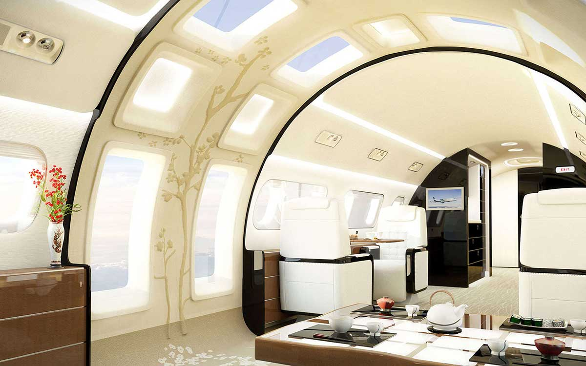 Well Hello There, Jet With Floor-to-Ceiling Windows