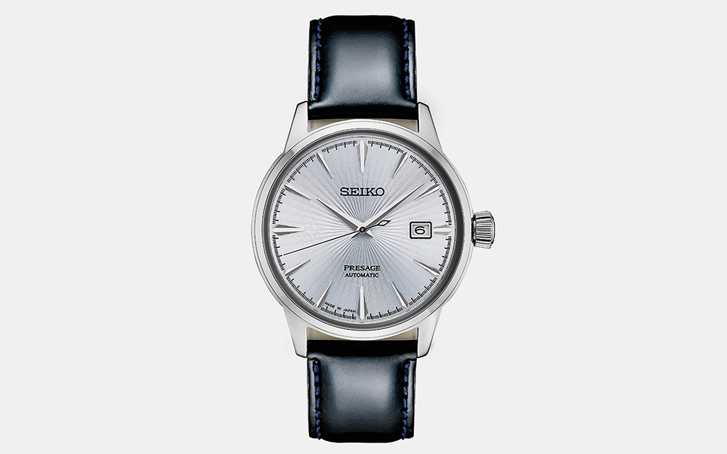 Seiko Presage Black Leather