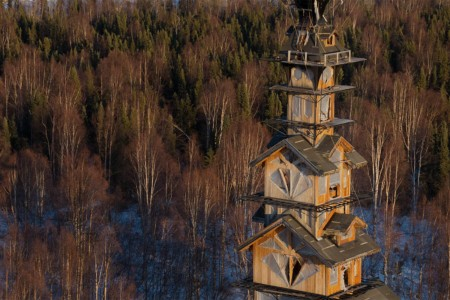 Alaska Cabin Tower Gives New Meaning to Living Up North