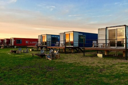 Take Shipping-Container Living for a Test Drive at This Texas Hotel