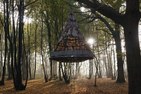This Birdcage Tent Was Inspired by Victorian Dressmaking