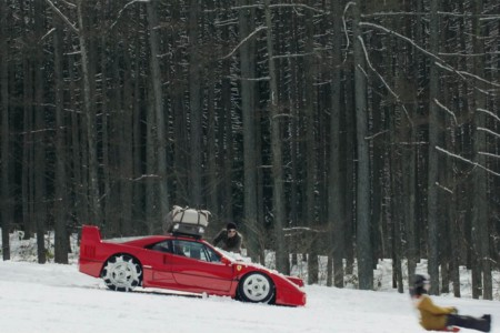 Ferrari vs. Ski Mountain Is a Nature Video We Can Get Behind