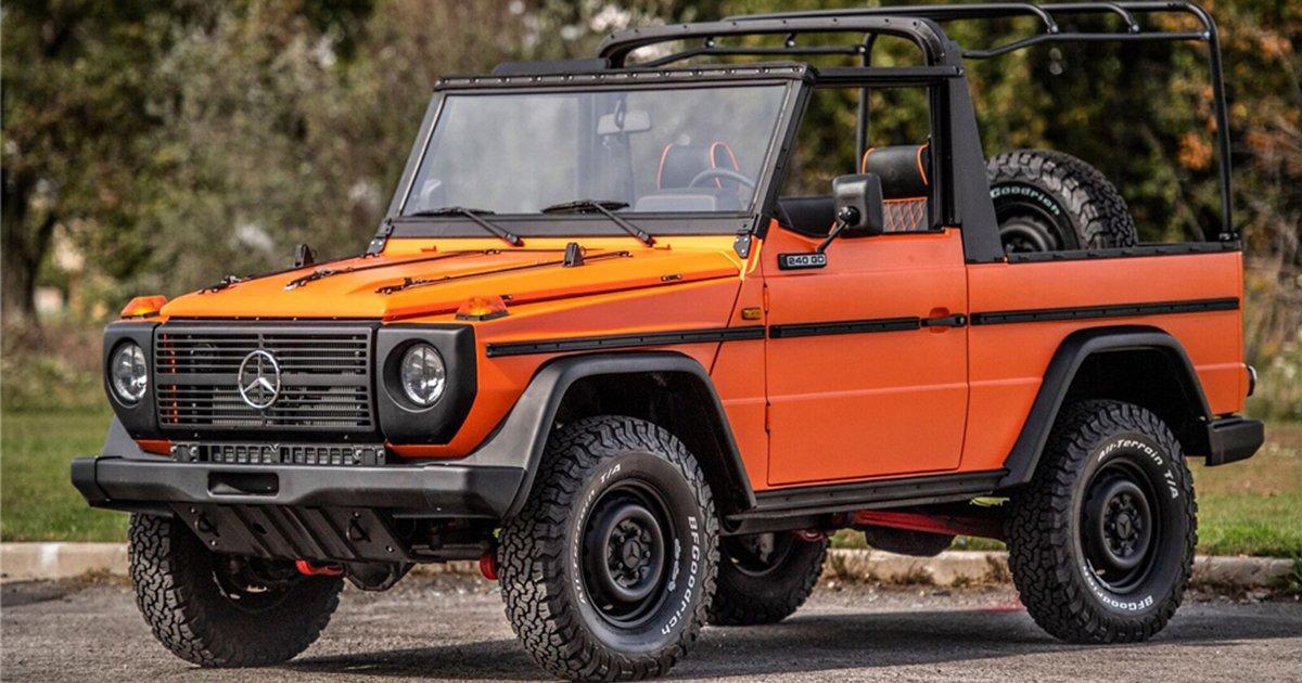 Auction Uv Orange 1987 Mercedes Benz 240gd Convertible Insidehook