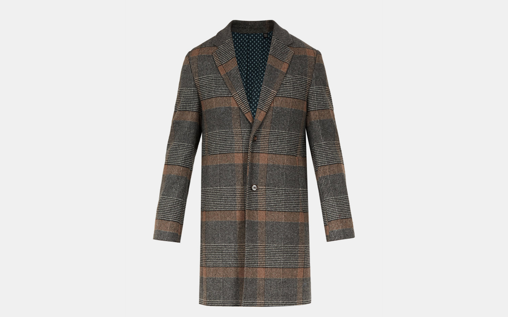 Ted Baker Checkered Overcoat