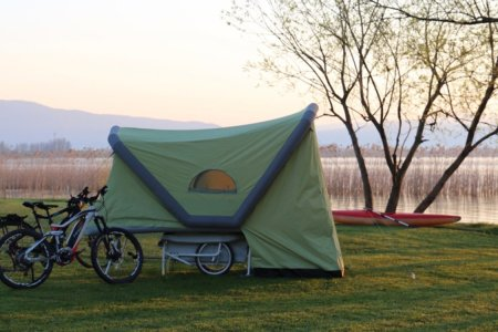 Inflatable Tent Hooks Up to Your Bike, Makes Hikers Cry