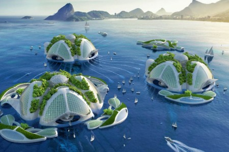 Your Future: An Atlantis-Like Eco-Village Made of Trash