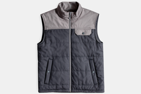 These Bison-Fill Puffer Vests Are $100 Right Now