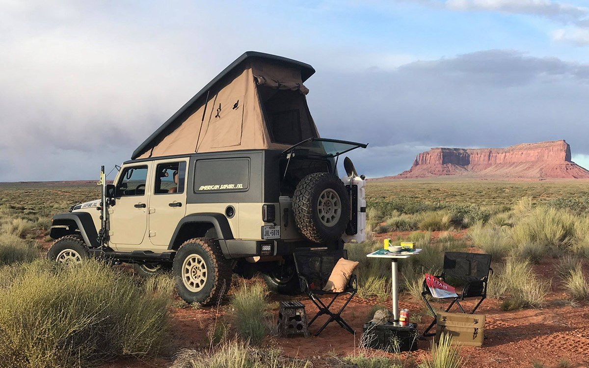 Jeep Wrangler Safari Tent Conversion - InsideHook