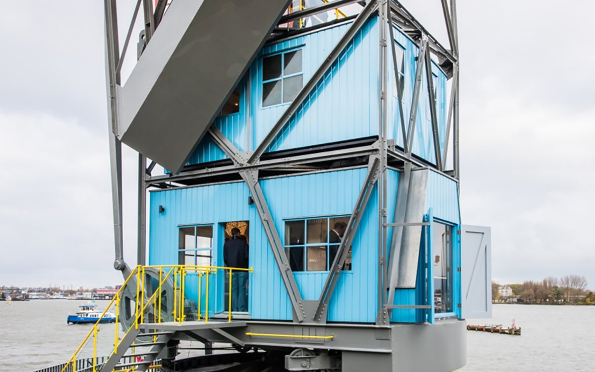 Yes, That's a Luxury Crane Hotel in the Netherlands, and Yes, You Can Book It.