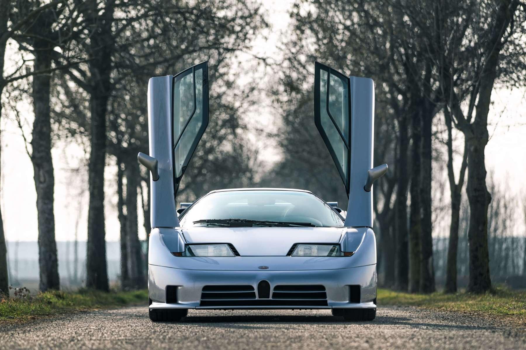 The exterior of the 1995 Bugatti EB110 Super Sport. (Girardo & Co.)