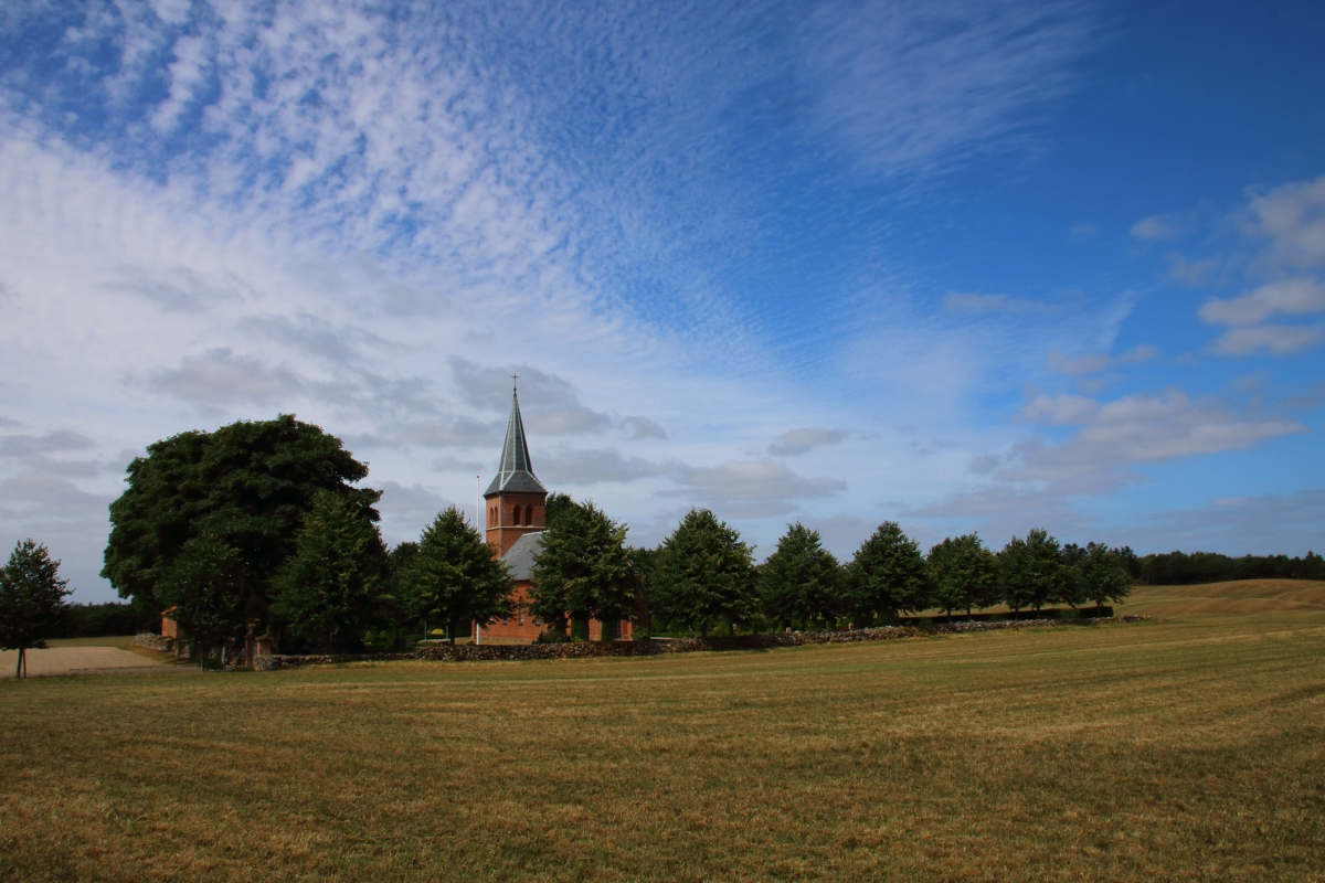 A church in Brande, Denmark, where a sky-high tower is being built. (Getty Images)