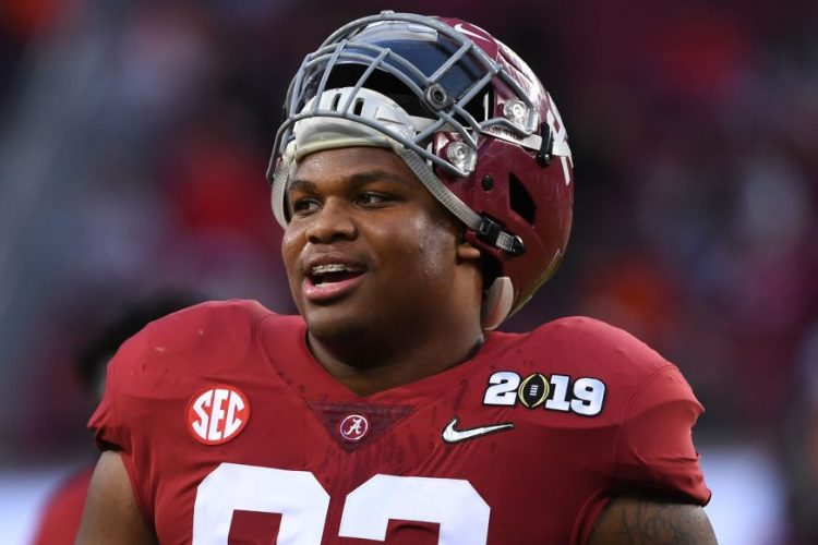 Quinnen Williams #92 of the Alabama Crimson Tide. (Photo by Jamie Schwaberow/Getty Images)
