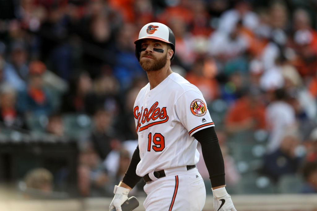 Chris Davis #19 of the Baltimore Orioles. (Photo by Rob Carr/Getty Images)