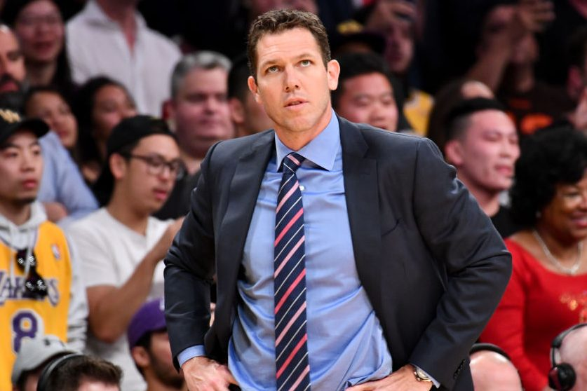 New Kings coach Luke Walton. (Photo by Allen Berezovsky/Getty Images)