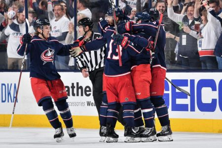The Columbus Blue Jackets beat the top-seeded Tampa Bay in the playoffs. (Getty)