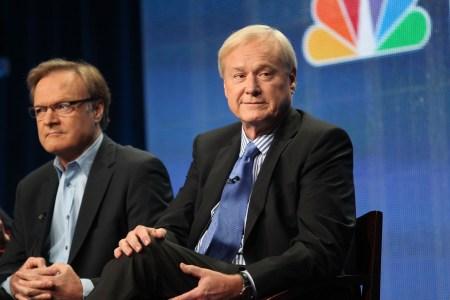 Chris Matthews speaks at an MSNBC panel in 2011