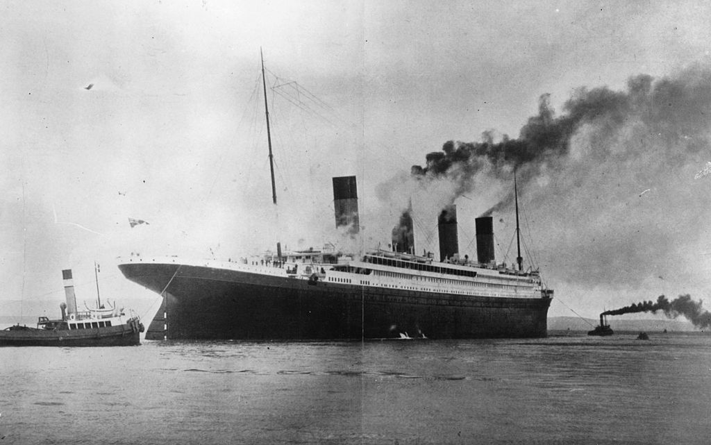 A letter from the doomed Titanic is up for auction. (Getty Images)