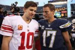 Eli Manning #10 of the New York Giants and Philip Rivers #17 of the San Diego Chargers. (Photo by Jeff Gross/Getty Images)