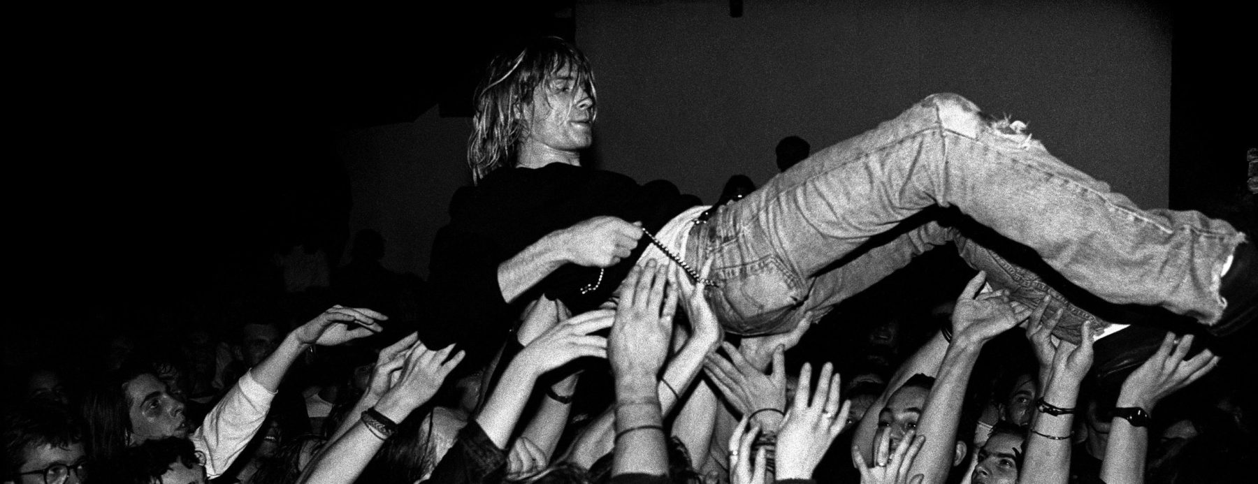 Nirvana singer Kurt Cobain performs in Frankfurt, Germany on November 12 1991. (Photo by Paul Bergen/Redferns)