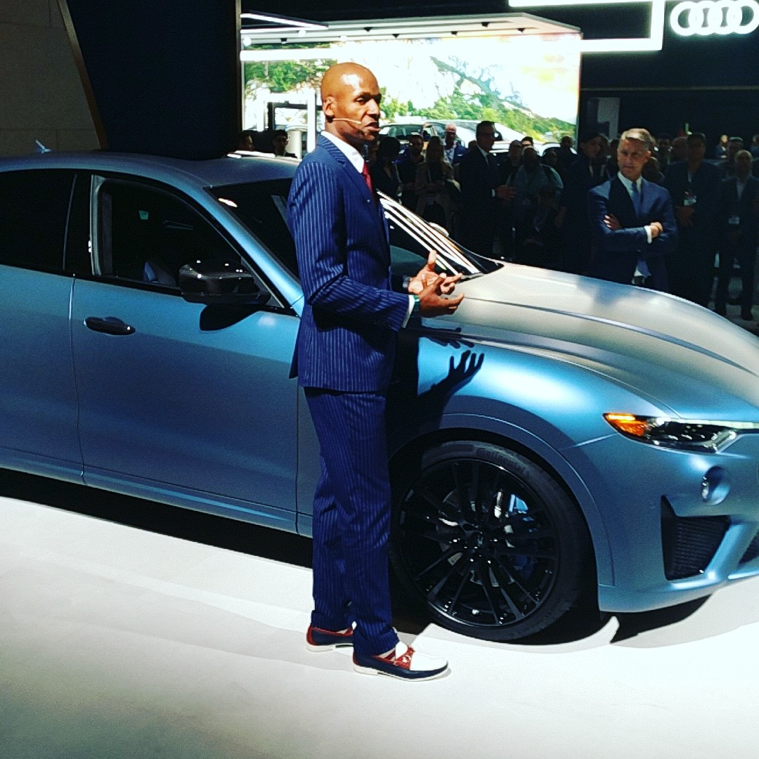 Ray Allen's custom Maserati Levante (Evan Bleier/InsideHook)