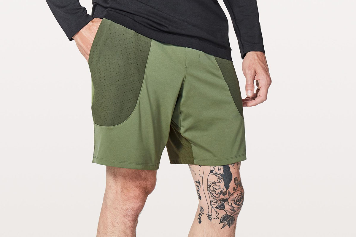 "ad2299ccfe Technical shorts with perforated Swift fabric ""in the hot zones"" for better  ventilation."