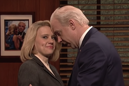 "Jason Sudeikis and Kate McKinnon on ""Saturday Night Live."" (NBC)"