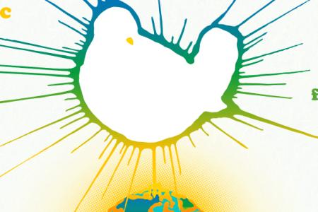 Logo of the Woodstock 50 concert