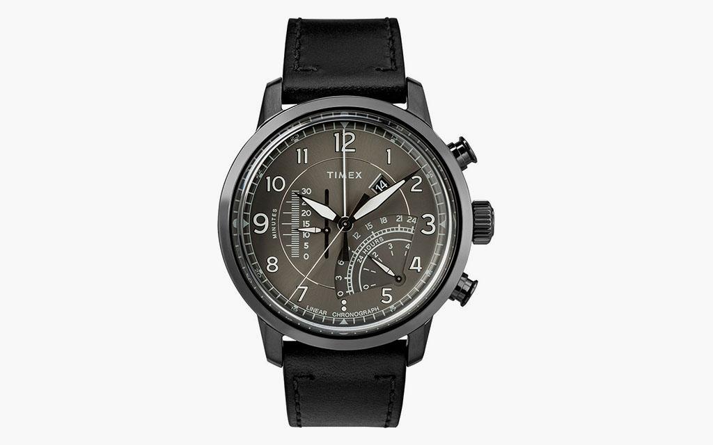 d8e25d34b3b0 Timex Waterbury. Waterbury Linear Chronograph 45mm. Featuring an Intelligent  Quartz Linear chronograph movement