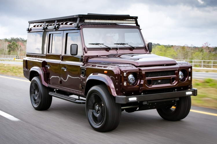 Project Camper is a custom Land Rover Defender D110.