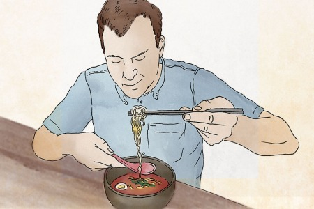 How To Slurp Ramen Like a Man