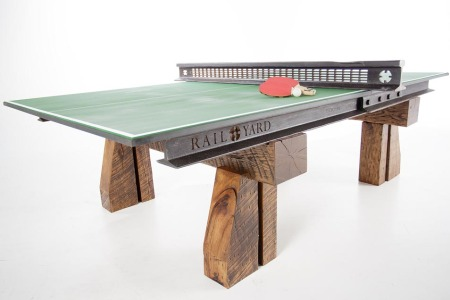 A Ping-Pong Table Forged from Railroad Steel