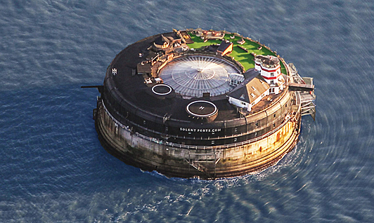 A Luxury Hotel in a Sea Fortress