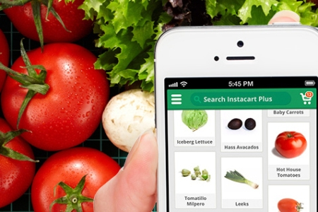 Ordering produce with Instacart