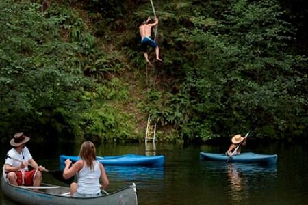 Rope Swing and Kayak at Camp Noyo