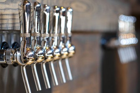 Taps in the Cellarmaker tasting room