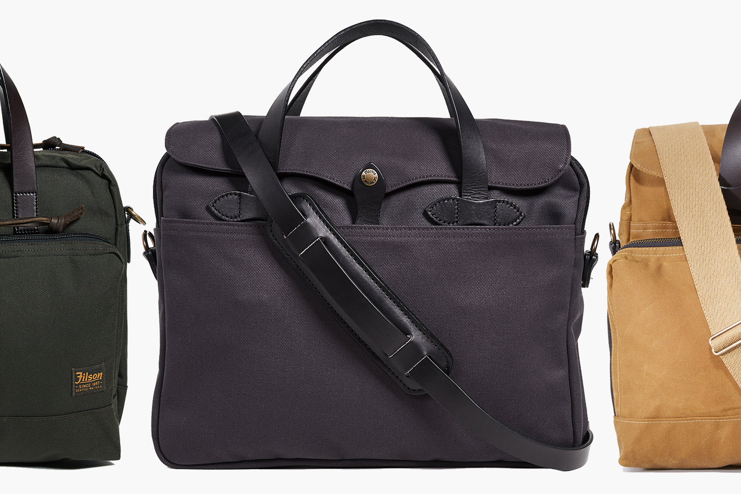 Three all-purpose Filson briefcases are 20% off. (East Dane)