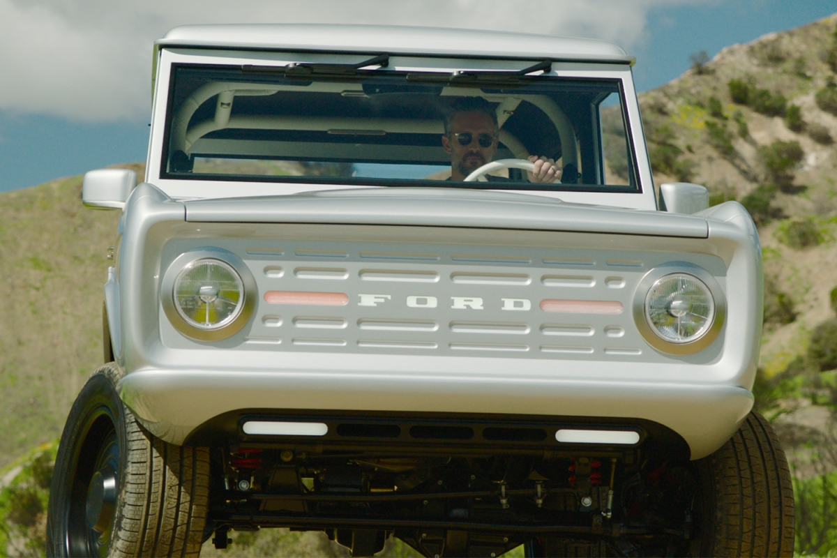 Meet the first 100% electric classic Ford Bronco, now accepting reservations.