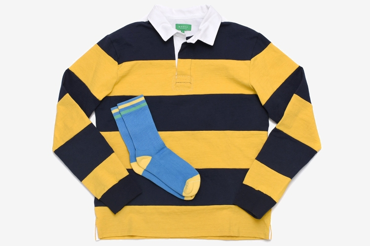 Take $50 off rugby shirt and sock bundles before they sell out.