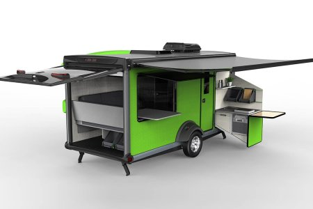 Ever Seen a Camper With a Pop-Out Indoor/Outdoor Kitchen?