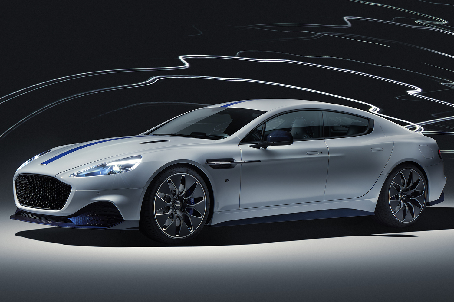 The Rapide E, Aston Martin's first all-electric vehicle, is available to order.