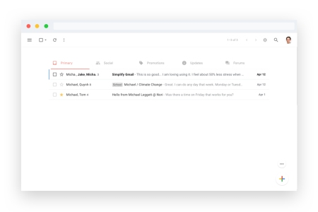 Simplify is a free Chrome extension from former Gmail lead designer Michael Leggett.