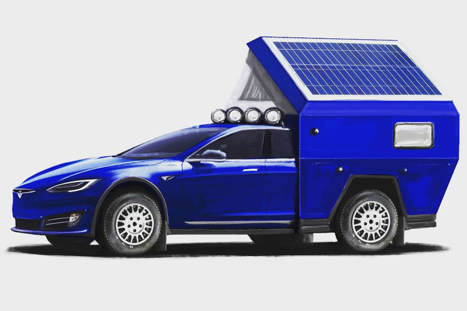 The Tesla Roamer electric camper prototype will debut on April 17th.
